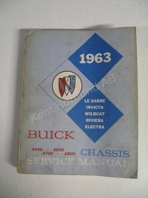 1963 Buick full size Chassis service manual Le Sabre Invicta Wildcat Riviera Electra original