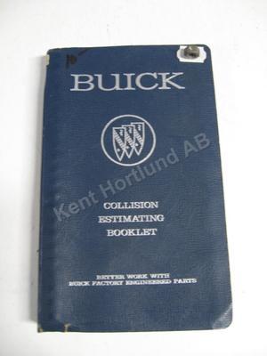 1963 Buick Collision Estimate Booklet