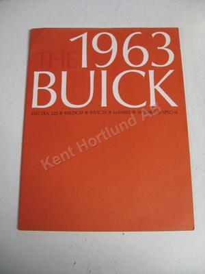 1963 Buick Försäljningsbroschyr Lyx
