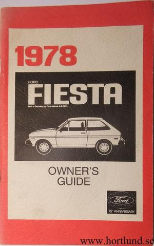1978 Ford Fiesta Owners Manual