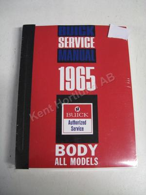 1965 Buick Body Service Manual