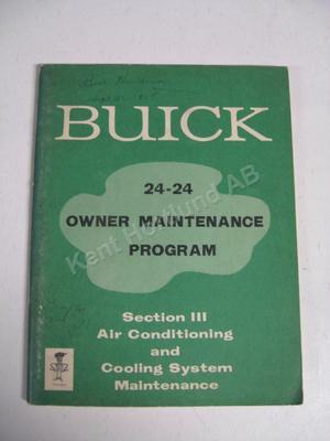 1965 Buick Owner Maintenance Program alla modeller