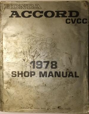 1978 Honda Accord CVCC Shop Manual