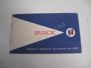 1965 Buick Tillbehörsbroschyr