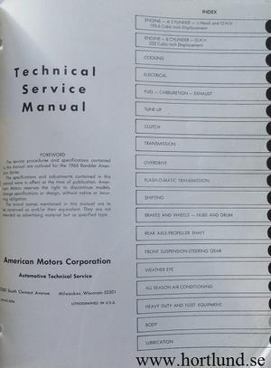 1965 Rambler American Technical Service Manual