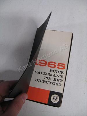 1965 Buick Salesman pocket directory
