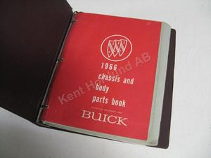 1966 Buick chassis and body parts book