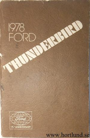 1978 Ford Thunderbird Owners Manual