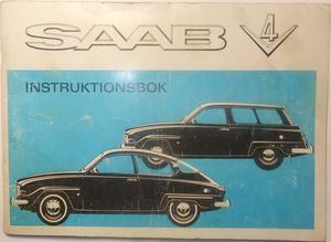 1970 SAAB V4 personvagn och herrgårdsvagn Instruktionsbok