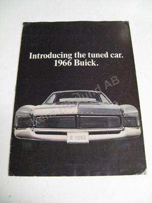 1966 Buick Försäljningsbroschyr Mailer