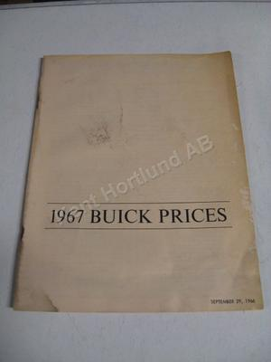 1967 Buick prices