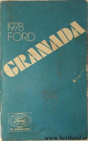 1978 Ford Granada Owners Manual