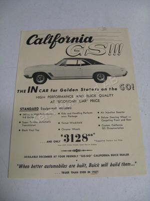 1967 Buick California GS broschyr