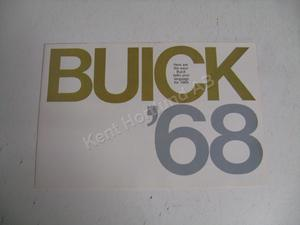 1968 Buick Försäljningsfolder stor