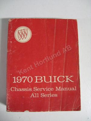 1970 Buick Chassis Service Manual original