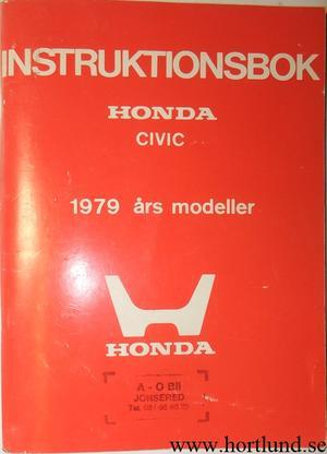 1979 Honda Civic Instruktionsbok