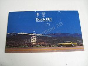 1971 Buick Försäljningsbroschyr