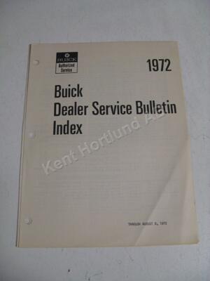 1972 Buick Service bulletins 3 delar