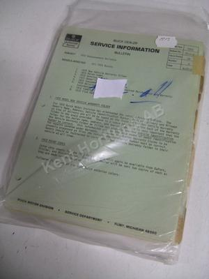1972 Buick Dealer service information bulletin
