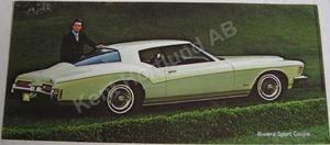 1972 Buick Riviera Sport Coupe Broschyr