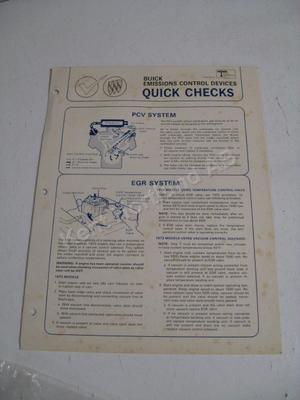 1973 Buick quick checks