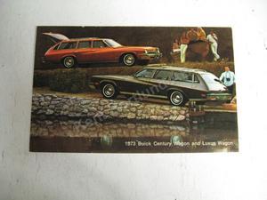 1973 Buick Century Wagon and Luxus Wagon Vykort
