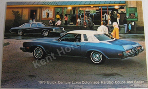 1973 Buick Century Luxus Colonnade Coupe and Sedan Vykort