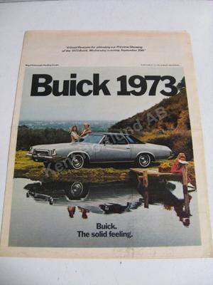 1973 Buick Sales Försäljningsbroschyr