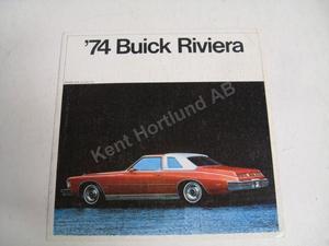 1974 Buick Riviera Försäljningsbroschyr