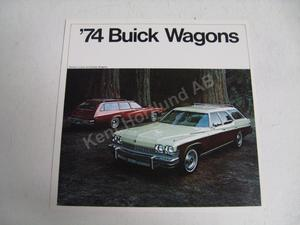 1974 Buick Station wagons Försäljningsbroschyr