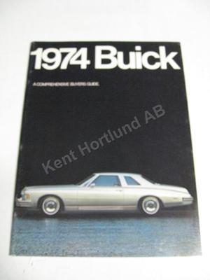 1974 Buick Lyxbroschyr