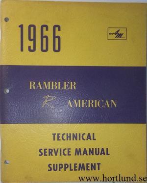 1966 Rambler American Technical Service Manual supplement