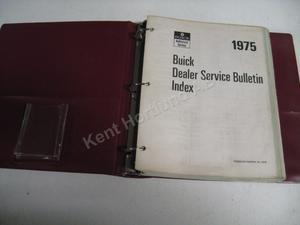 1975 Buick Service bulletins