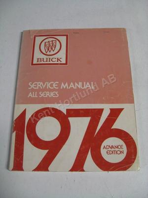 1976 Buick Service manual advance edition