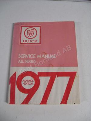 1977 Buick Service manual advance edition