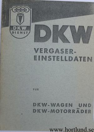 1952 DKW förgasare instruktionsbok