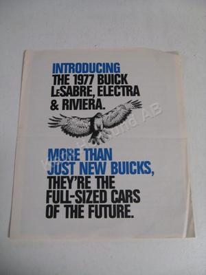 1977 Buick Lesabre Riviera Electra Försäljningsbroschyr