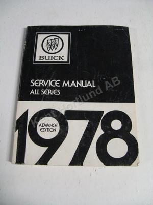 1978 Buick Service manual advance edition