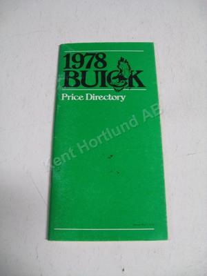1978 Buick Price directory