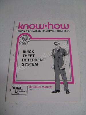 1979 Buick in dealership service training