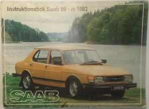1983 SAAB 99 Instruktionsbok