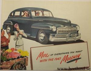 1947 Mercury broschyr original