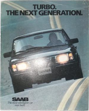 1982 SAAB 900 Turbo APC broschyr