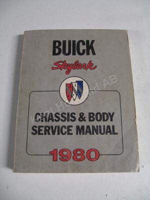 1980 Buick Skylark Chassis & Body Service Manual