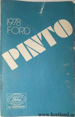 1978 Ford Pinto Owners Manual