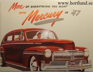 1947 Mercury broschyr folder