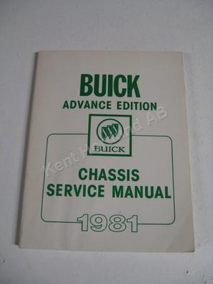 1981 Buick advance edition chassis service manual