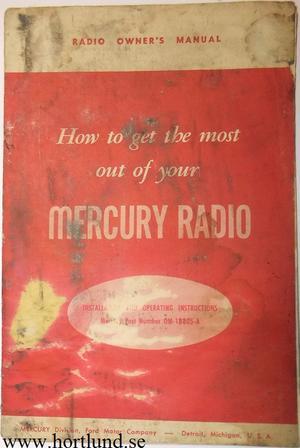 1948 Mercury Radio Owner's Manual