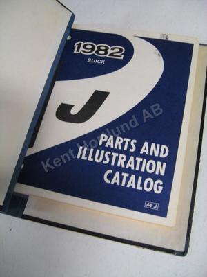 1982 Buick Skyhawk Parts and Illustration Catalog J