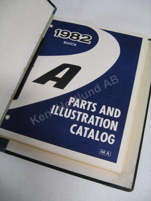 1982 Buick Century Parts and Illustration Catalog A